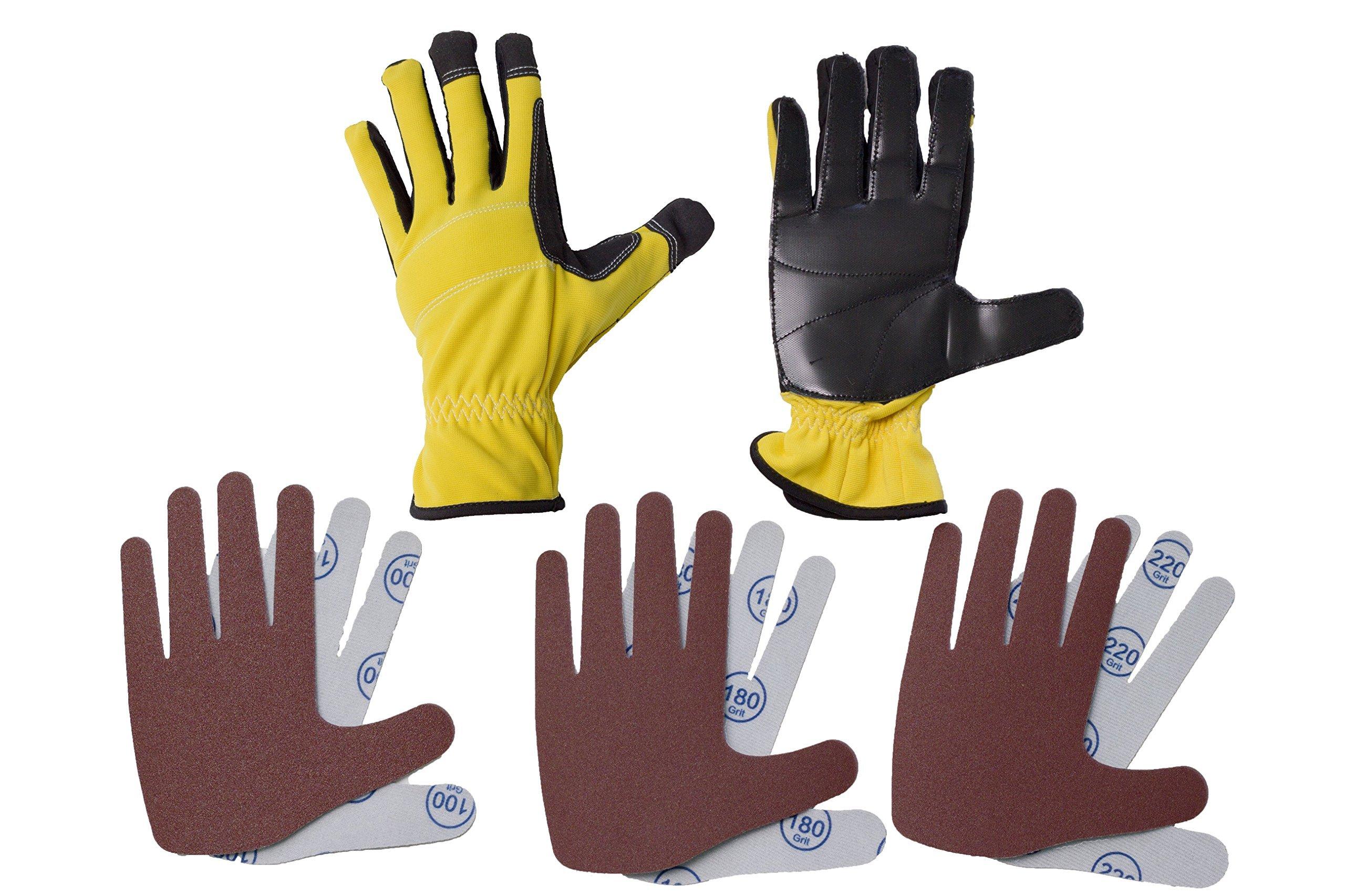 Peel & Stick Sanding Duel Hand Glove Set (Large) by Peel & Stick Sanding Glove