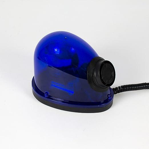 Sirena de policía TOTO, 12V/25W, azul - Luces omnidireccionales / Luz de color - showking: Amazon.es: Iluminación