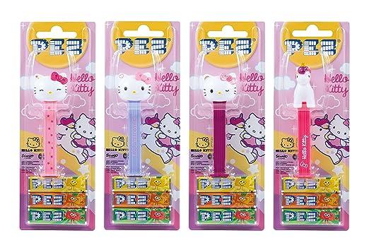 PEZ set de dispensadores Hello Kitty (4 dispensadores con 3 recargas de caramelos PEZ de