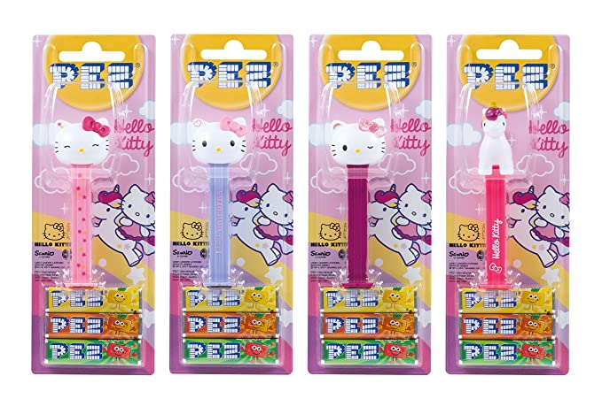 PEZ set de dispensadores Hello Kitty (4 dispensadores con 3 recargas de caramelos PEZ de