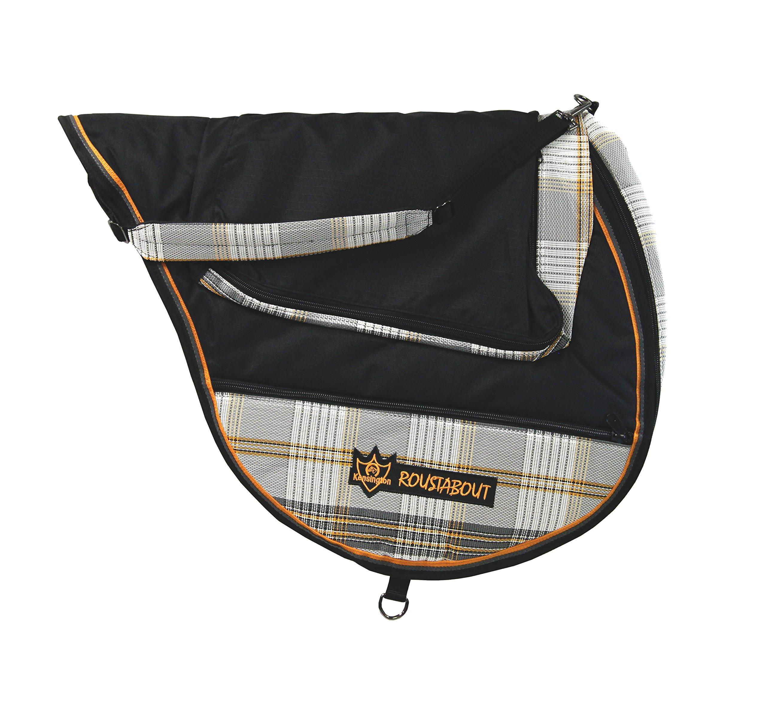Kensington All Purpose Saddle Carry Bag, Black/Citrus Slate, One Size