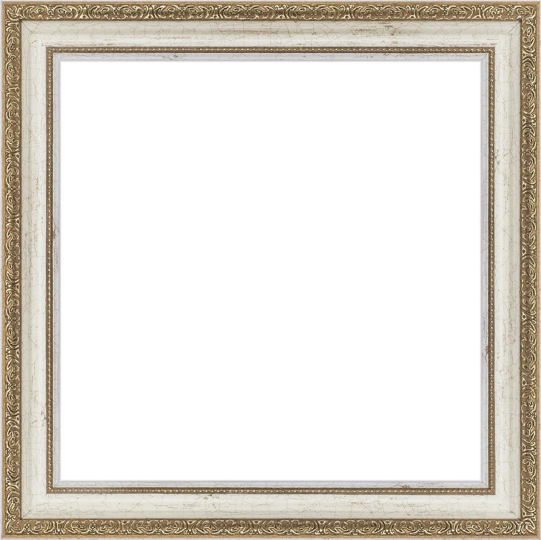 正方形額縁 1644 UVカットアクリル仕様 (ホワイト, 500角) B07BHMDWSZ 500角|ホワイト ホワイト 500角