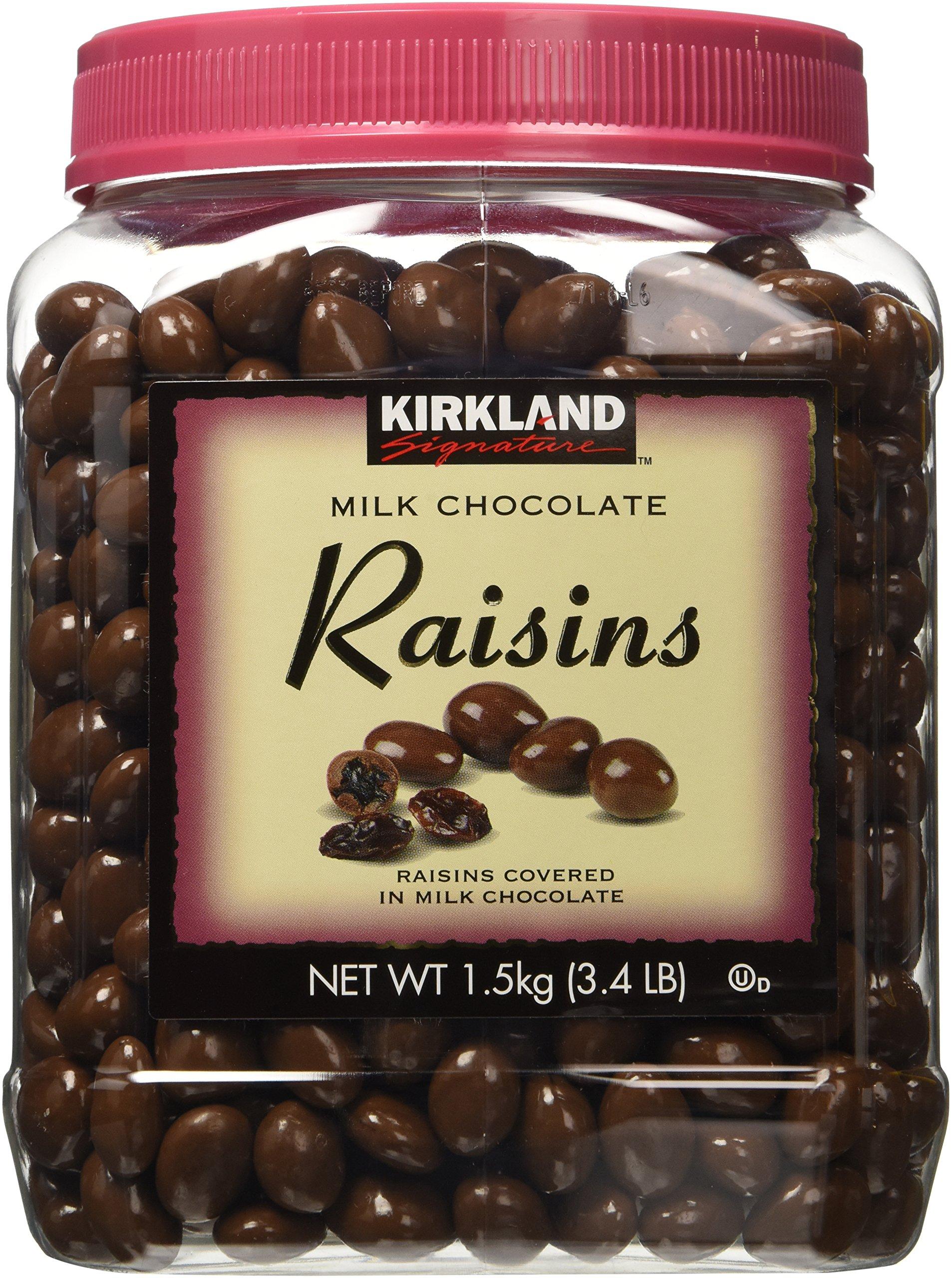 Kirkland Signature Milk Chocolate, Raisins, 54 Ounce x 2 (Pack of 2) by Kirkland Signature
