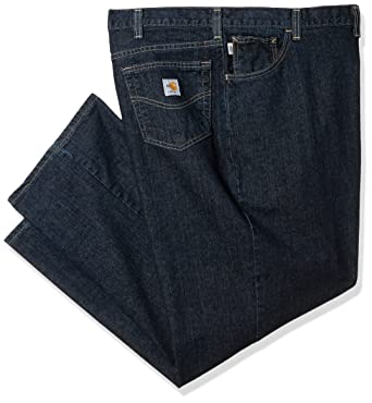 ec43d4c75bef Carhartt Men s Flame Resistant Rugged Flex Jean Straight Traditional Fit at  Amazon Men s Clothing store
