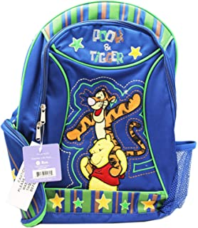 Disneys Winnie the Pooh Pooh and Tigger Blue/Green Kids Backpack (16in)