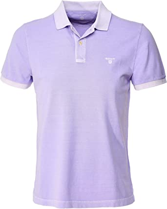 GANT Hombres Piqué de algodón Sunbleached Camisa de Polo Púrpura XL: Amazon.es: Ropa y accesorios