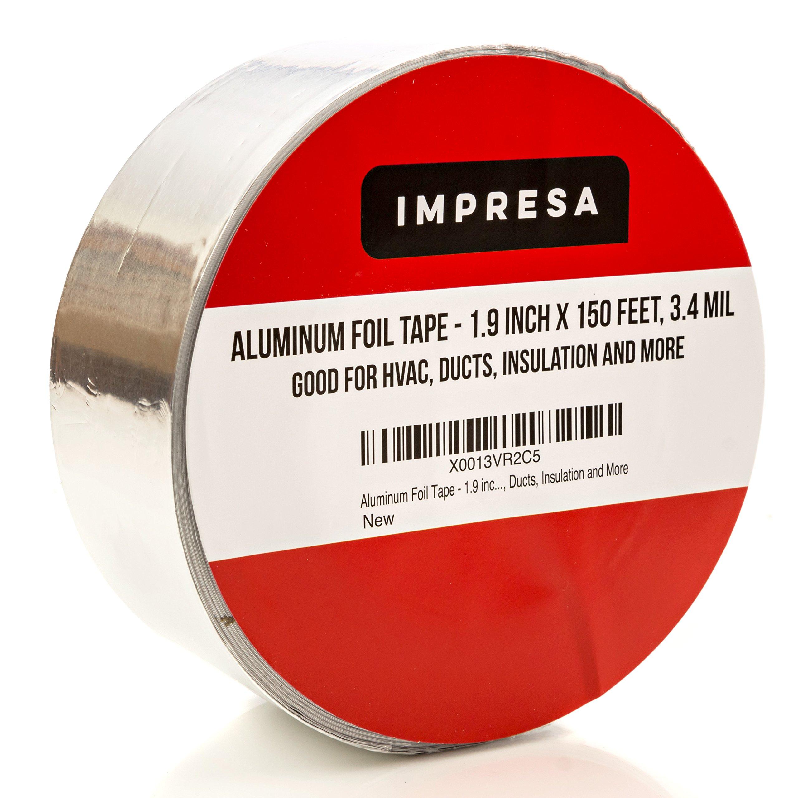 "HVAC Tape Technologies Aluminum Foil Tape 3/"" x 1.7 MIL x 150 ft each 3 Rolls"