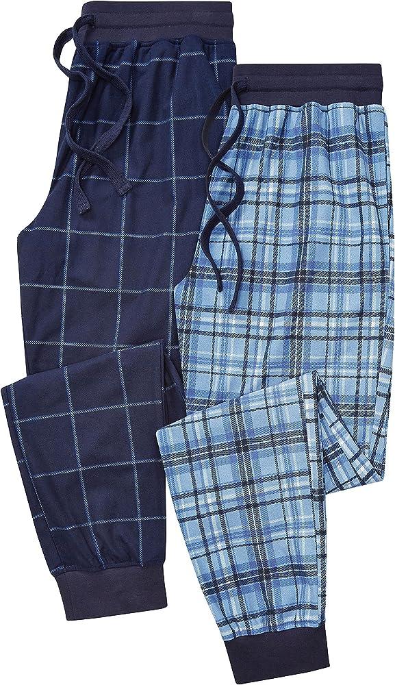 next Hombre Pack De Dos Pantalones De Pijama Largos A Cuadros con Bajo Ajustado: Amazon.es: Ropa y accesorios