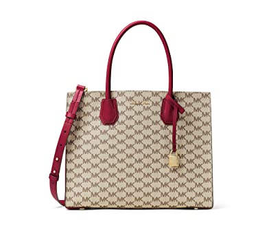 cf7df29eda58 Amazon.com: MICHAEL Michael Kors KORS STUDIO Mercer Large Convertible Tote  Natural Cherry: Clothing