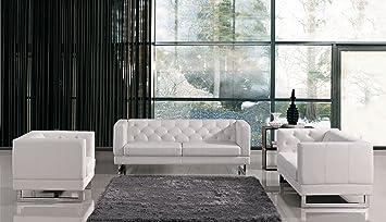 Peachy Vig Furniture 1169 3 Piece Living Room Set White Sofa Home Interior And Landscaping Oversignezvosmurscom