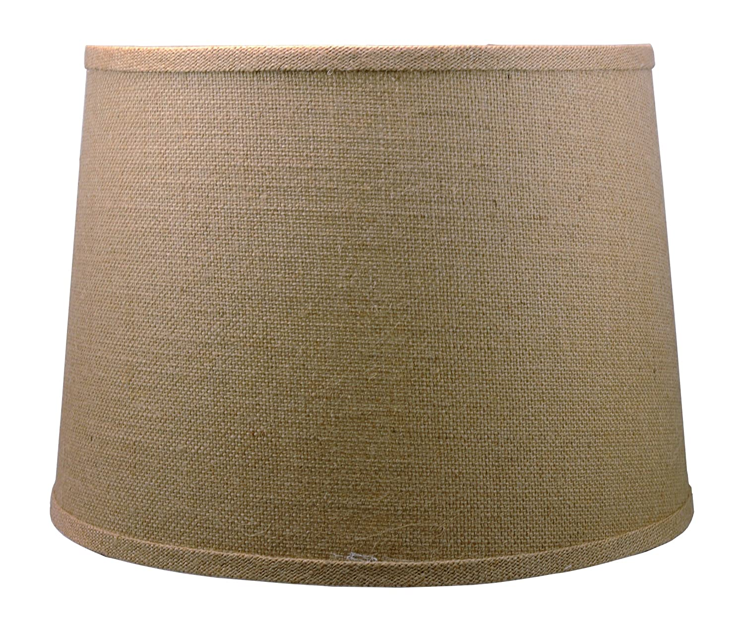 Urbanest French Drum Burlap Lampshade, 12-inch by 14-inch by 10 ...