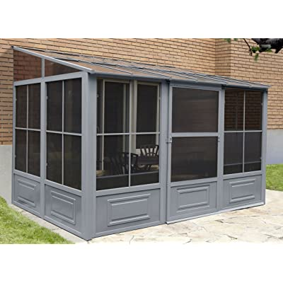 Gazebo Penguin W1610 1/2 Add-a-Room All-Season Solarium, 10 by 16', Slate : Garden & Outdoor