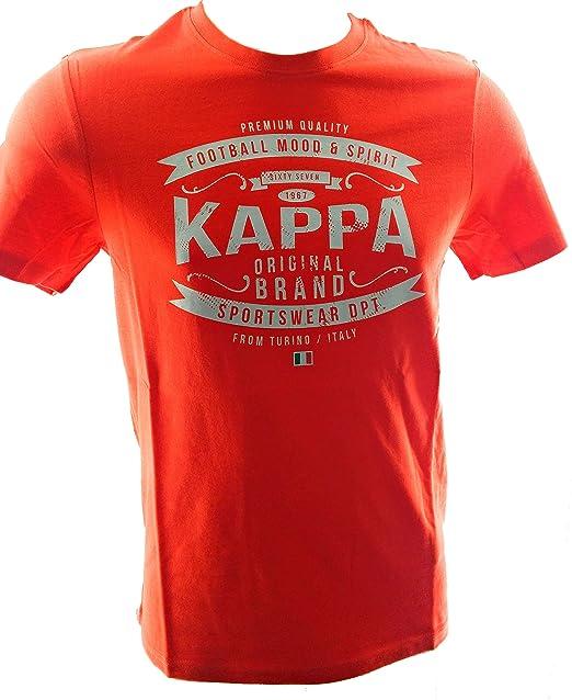 Kappa Camiseta Hombre Manga Corta Roja (S)