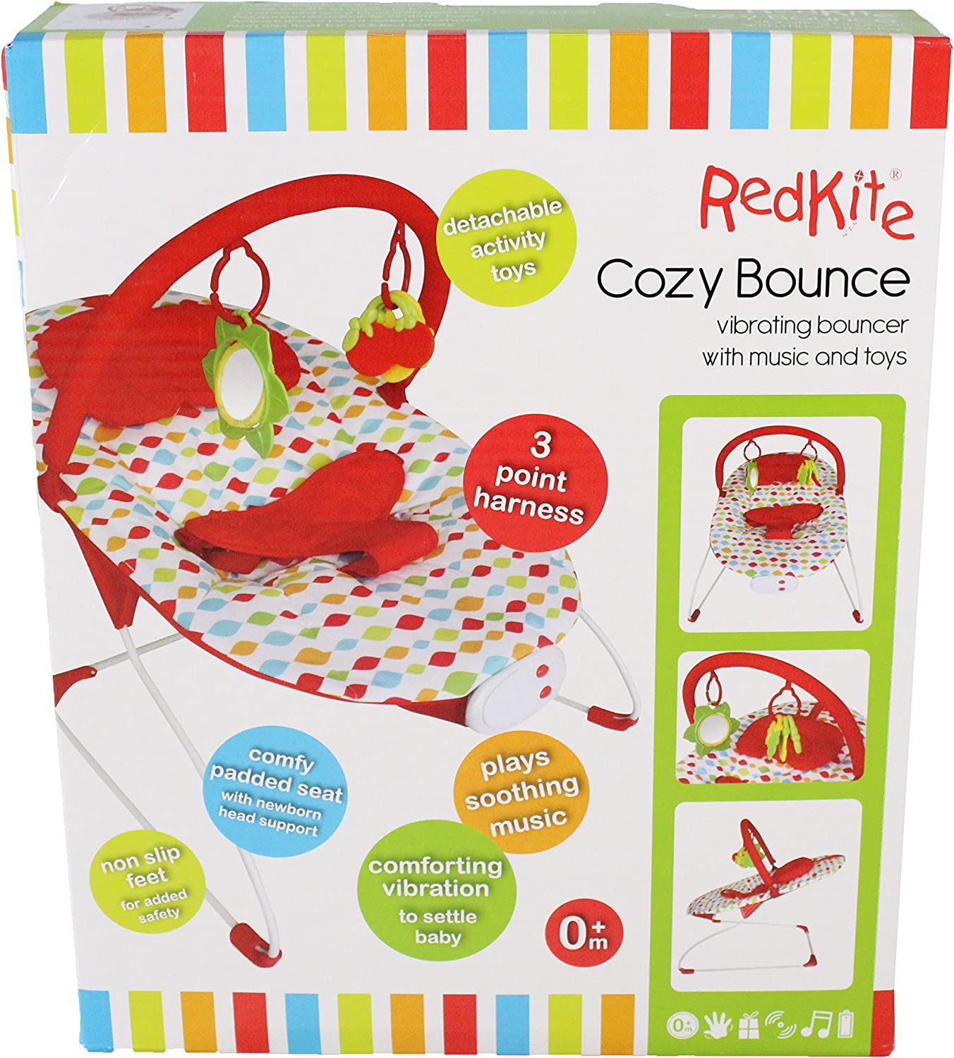 Carnival With Music Chair Vibrating Bouncer Cozy Bounce Red Kite