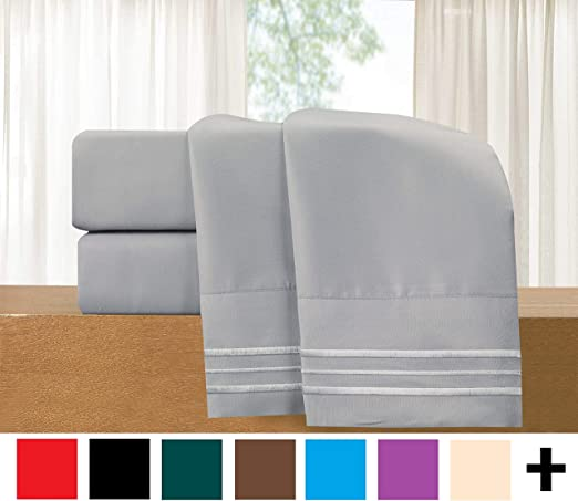 Deep Pocket up to 16inch Full White Elegant Comfort /™ Luxurious Soft 1500 Thread Count Egyptian Quality 4-Piece Sheet Wrinkle and Fade Resistant Bedding Set