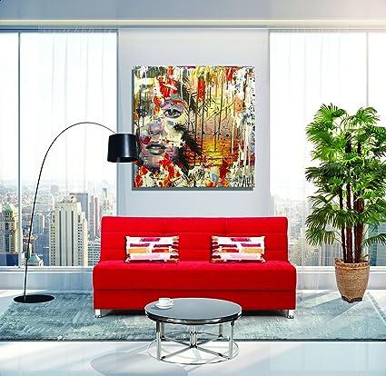Amazon.com: Casamode Rainbow Sofa Bed Red Chenille: Kitchen ...