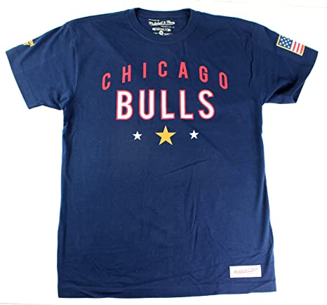 hot sale online a92b0 8df47 Chicago Bulls NBA Men s Mitchell   Ness USA Olympic T-Shirt ...