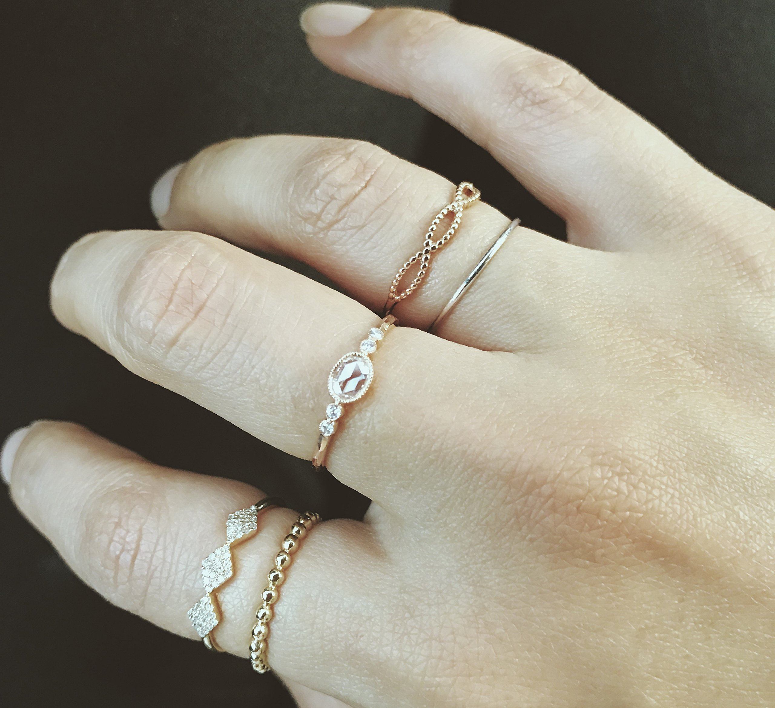 Minimalist Ring, Beaded Ring, Stacking Ring, 14K Solid Gold Ball Ring, Gold Ring, Unique Ring, Dainty Ring