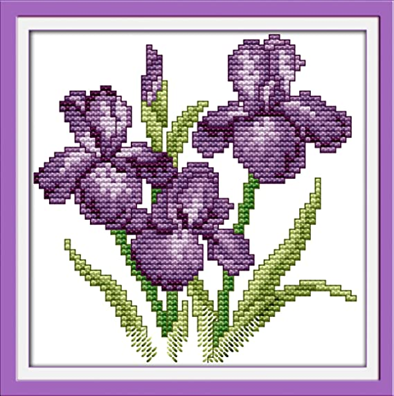 Cross Stitch Fabric CT Number: 14CT Stamped Product Zamtac R541 14CT 11CT Counted and Stamped Home Decoration Beautiful Bride Cross Stitch Kits