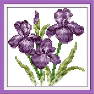 Joy Sunday Cross Stitch Kits 11CT Stamped Young Girls 23.2x16.1 Or 59cmx41cm Easy Patterns Embroidery for Girls Crafts DMC Cross-Stitch Supplies Needlework