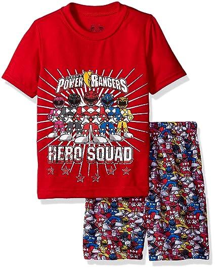 Amazon.com  Intimo Boys  Power Rangers Hero Pajama Short Set  Clothing 4bbf17f55