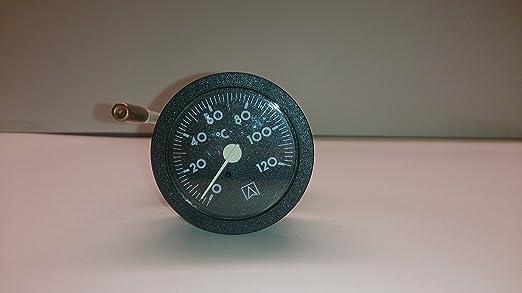 Kessel Thermometer Rund Ø52 Mm Anzeigebereich 0 120 C Mit Kapillarleitung 1500mm Baumarkt