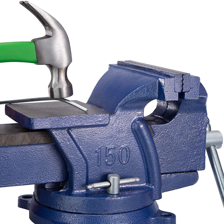 lapso 165 mm | No. 401125 TecTake Tornillo de banco con yunque plato giratorio 360/° para banco de trabajo varias tama/ños