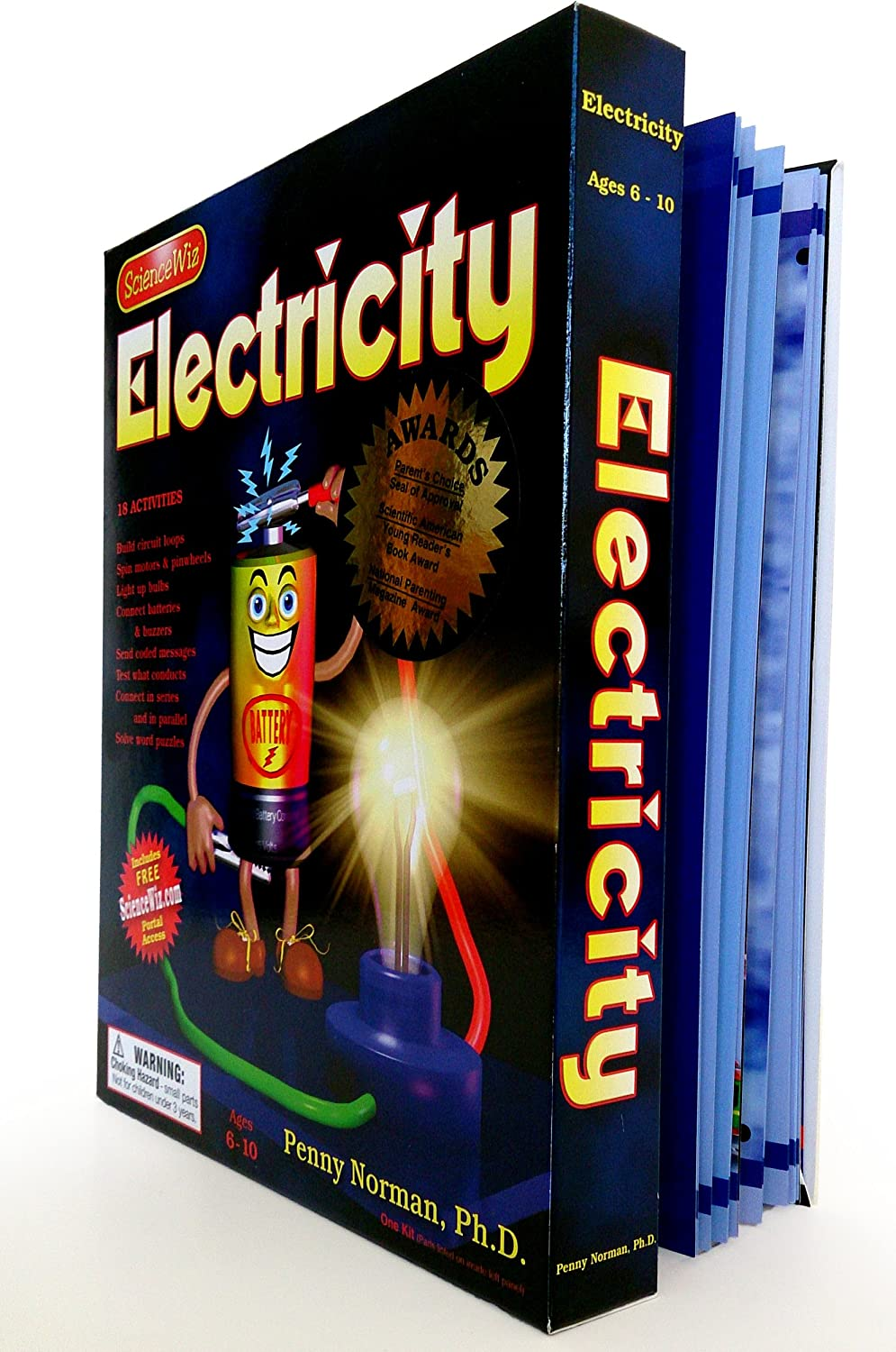 Sciencewiz Electricity Kit Penny Phd Norman Art 4th Grade Science Worksheets Electric Circuit Huff Lynn Beckstrom Toys Games