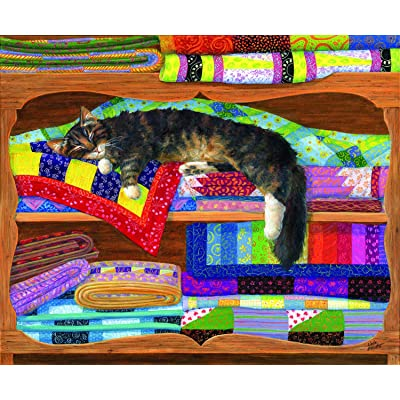 Quilt Cupboard 1000 pc Jigsaw Puzzle by SunsOut: Toys & Games