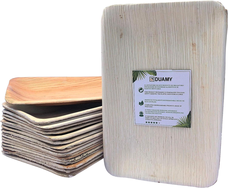 Bandeja de hoja de palma desechables. 20 bandejas biodegradables ...