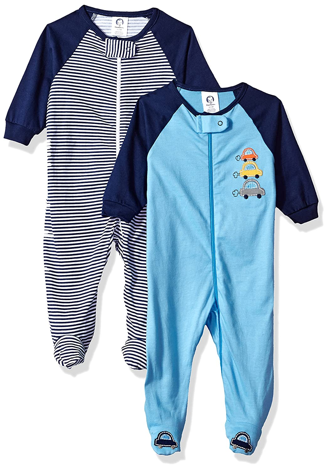 df0827146 Whether playtime or naptime, Gerber newborn zip-front sleep \'n play is the  perfect outfit! two-pack zipper sleepers with built-in feet to keep toes  warm.