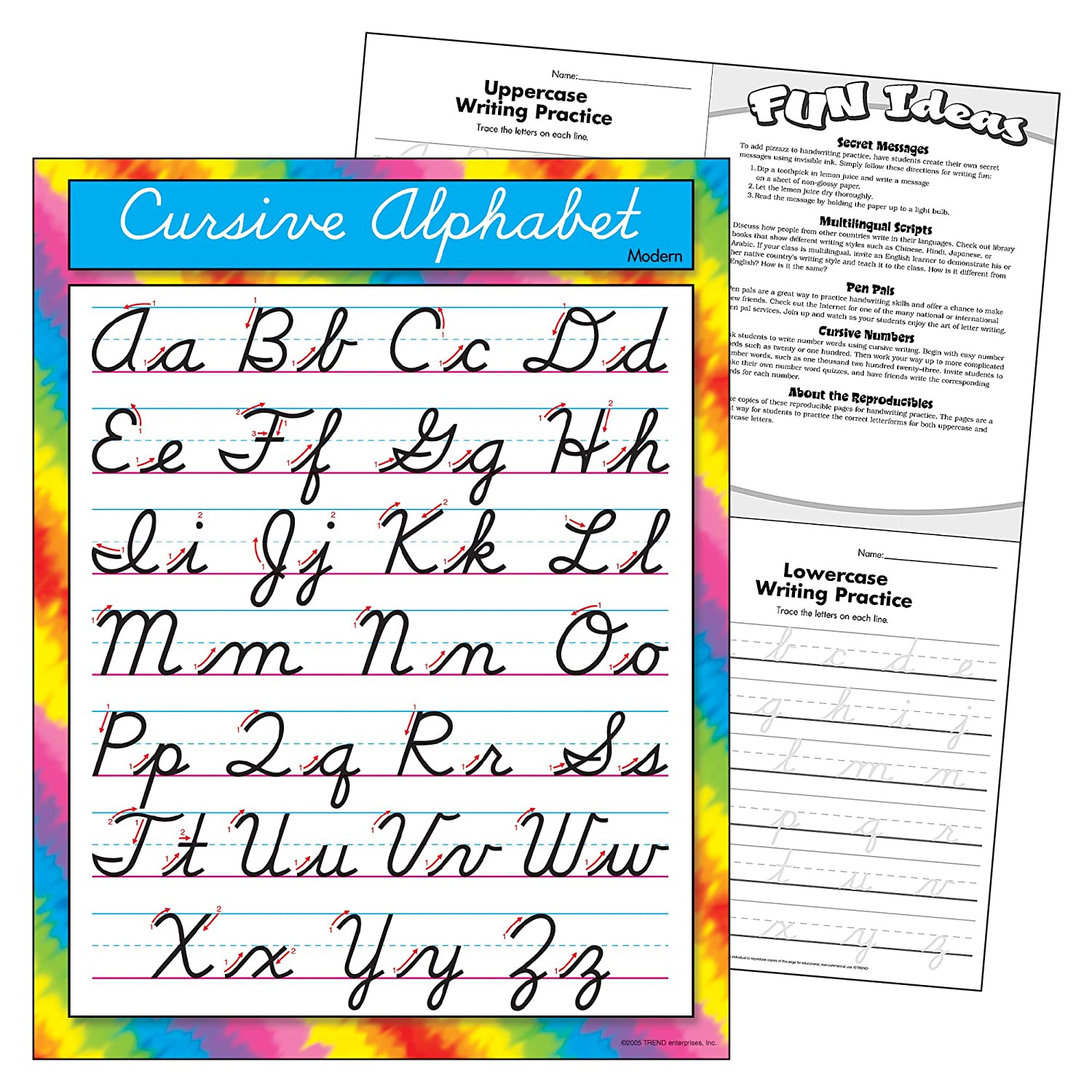 Amazon Trend Enterprises Inc Cursive Alphabet Modern