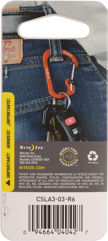 Nite Ize CSL3-01-R6 SlideLock Carabiner 3 Black