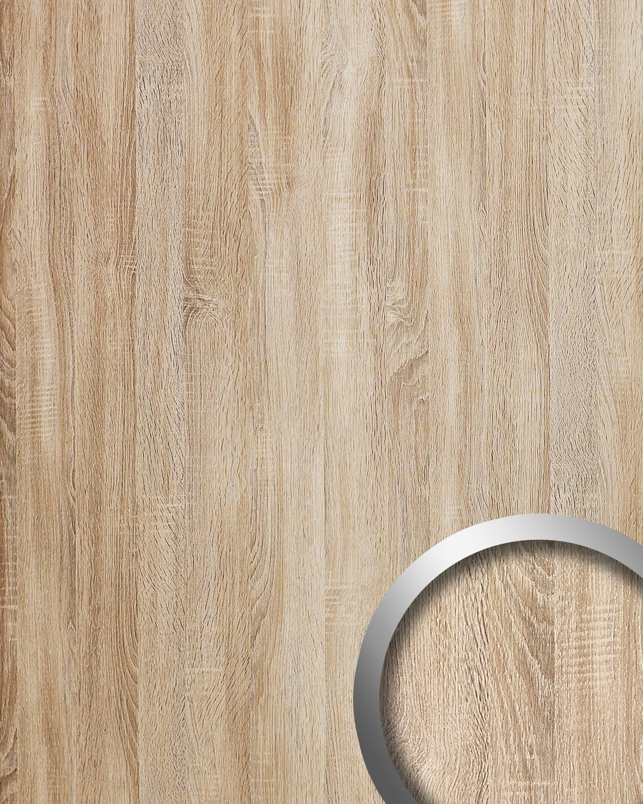 WallFace 17279 DECO OAK TREE Wall panel self-adhesive wood decor Luxury wallcovering self-adhesive beige | 2,60 sqm by Wallface (Image #1)