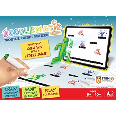 DoodleMatic: Transform Creative Drawings to Animated Playable Games on your Mobile Device! Smart Fun Video Game Maker Books Teach Game Design And Pre Coding Logic. Award-winning STEM Learning Activity: Toys & Games