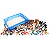 Play Therapy Sand Tray Basic Portable Starter Kit with Tray, Sand, and Miniatures