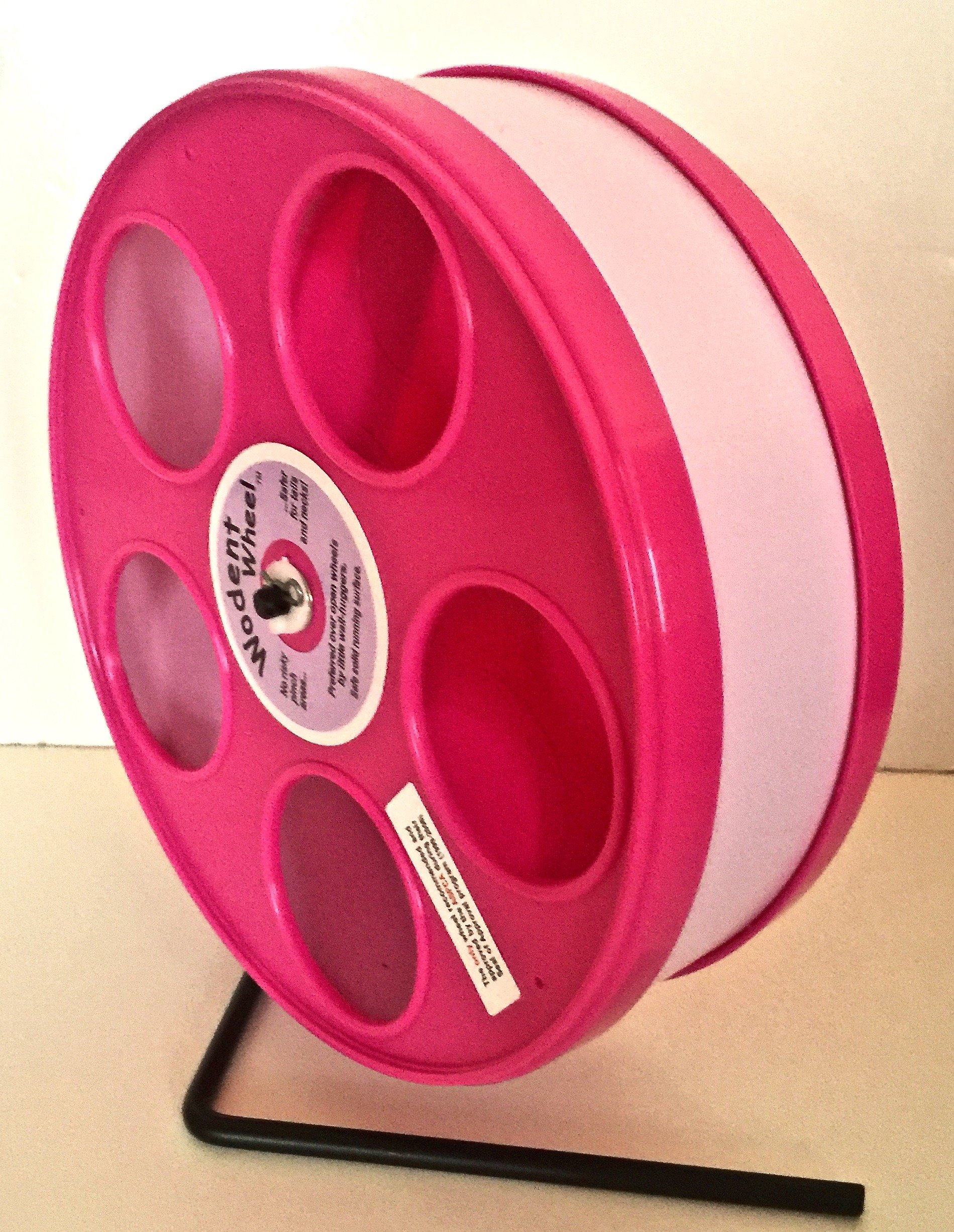 Small Animal 11''Diameter WODENT Exercise Wheel(Pink W. Lavender Track) Total Height 12.3''