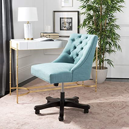 amazon com safavieh mcr1030e soho desk chair light blue light blue rh amazon com  light blue swivel desk chair