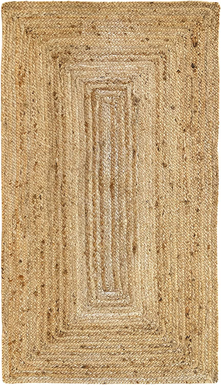 Tappeto Corridoio 110x60cm Camera Da Letto Tappeto Morbido E Ad Alta Resistenza Soggiorno Tappeto In Juta Granada 100 Fibra Di Iuta Naturale Naturale Hamid Tessuto A Mano Decorazioni Per Interni Tappeti
