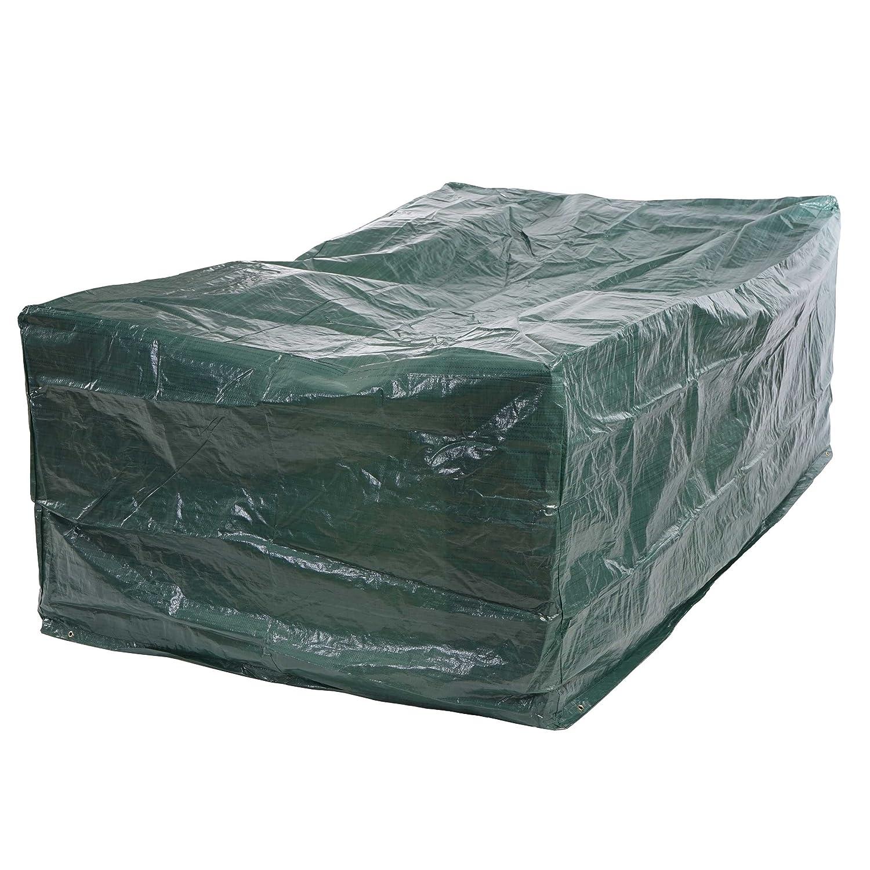 Telo di copertura mobili da giardino in polietilene ~ 240x190x90cm Mendler