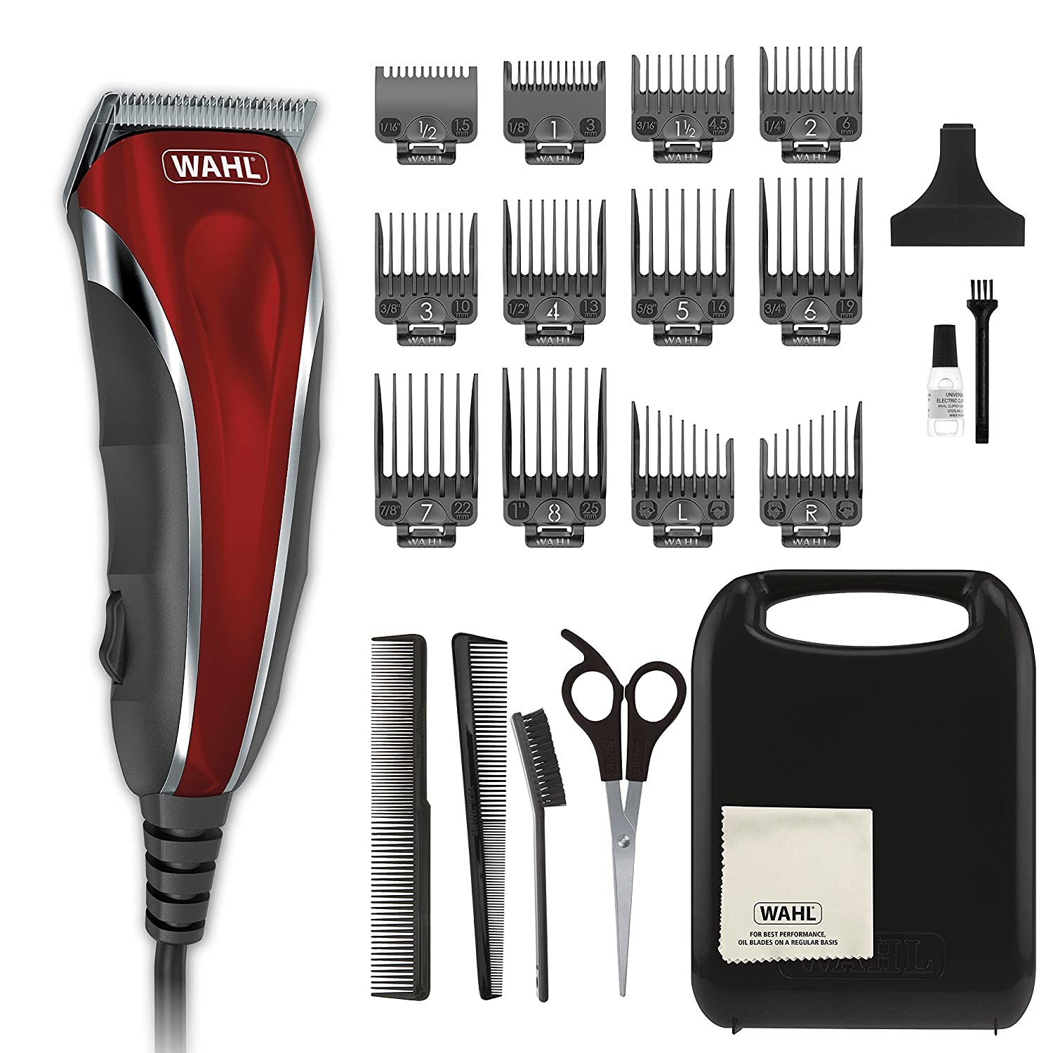 Wahl Clipper Compact Multi-Purpose Haircut, Beard Body Grooming Hair Clipper Trimmer with Extreme Power Easy Clean Blades – Model 79607