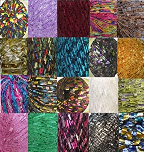 300 yrds 20 Colors Ladder Trellis Yarn for 20 Necklaces Mix lot