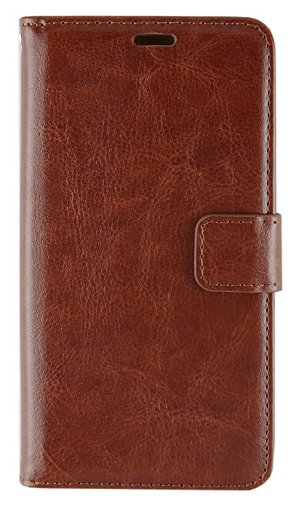 super popular f4f21 0a736 CASSIEY Xiaomi Mi Redmi 4 Flip Cover Case Executive Business : Inner Soft  TPU, Leather, Magnetic Lock, Wallet, Stand, Brown [ Will Not fit Redmi Note  ...