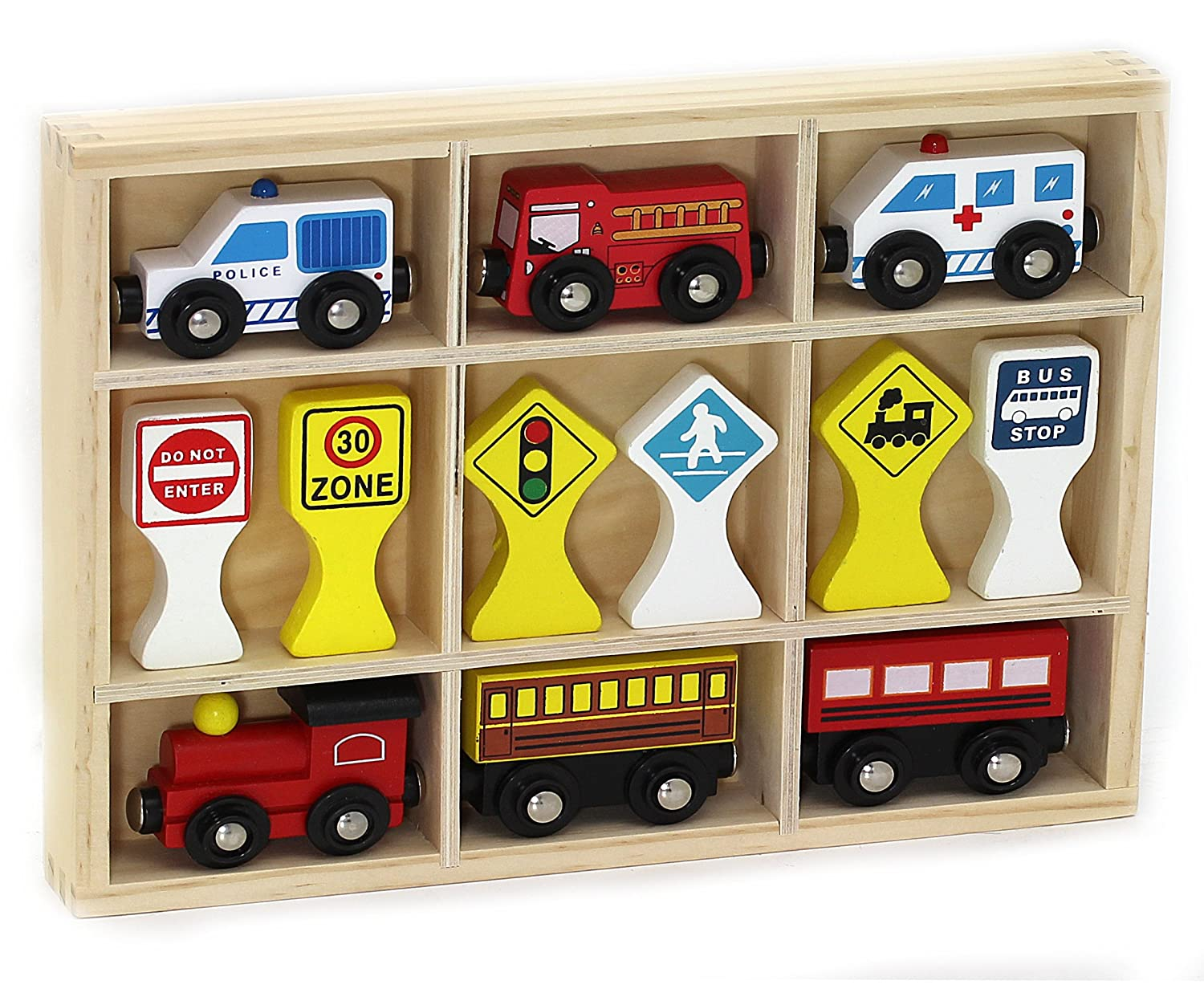 Deluxe Vehicles and Traffic Signs Kids Destiny