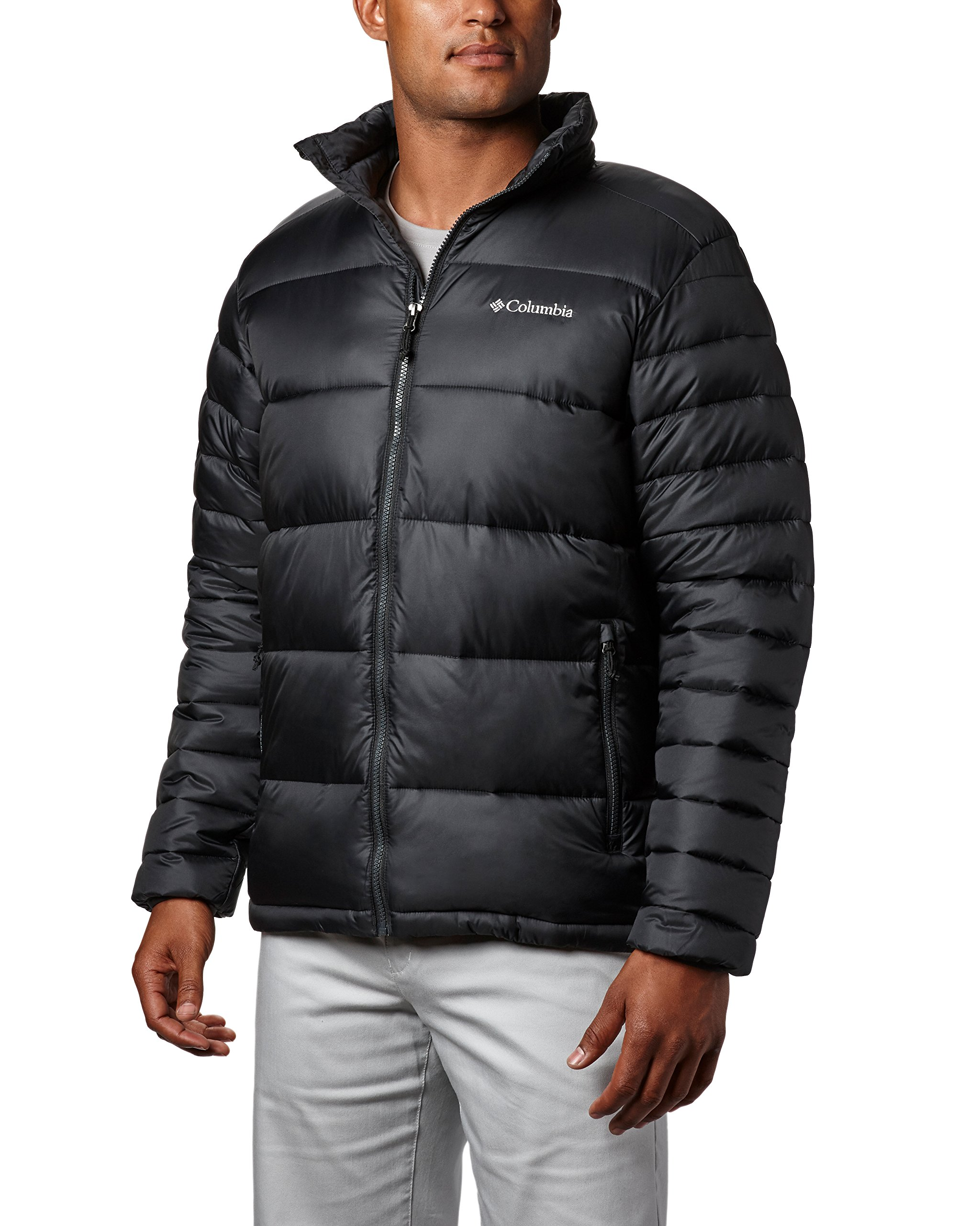 Columbia Men's Frost Fighter Insulated Warm Puffer Jacket, black, S by Columbia