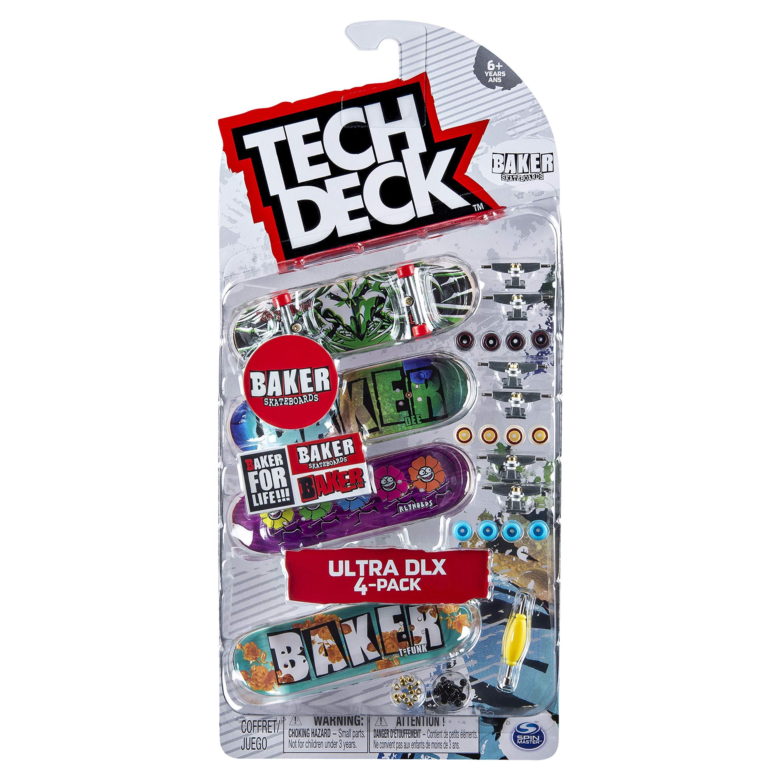 Tech-Deck Ultra DLX 4 Pack 96mm Fingerboards - Baker 2019 Edition by Tech-Deck
