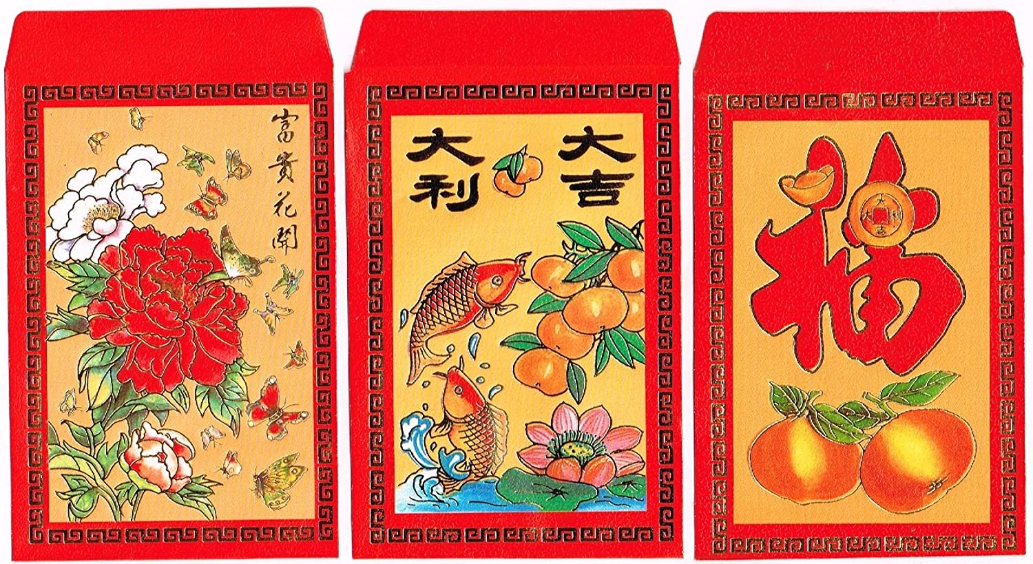 Amazon Com Chinese Red Envelopes In Colors Pack Of 50 In 3
