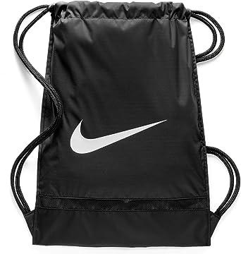 Corrección salto Hundimiento  Amazon.com: Nike Brasilia Training Gymsack, Drawstring Backpack with  Zippered Sides, Water-Resistant Bag, Black/Black/White: Clothing