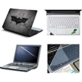 Namo Arts 4In1 Laptop Accessories Combo Kit - Laptop Skins 15.6 Inch Stickers With Laptop Screen Protector, Keyguard And Trackpad Skin