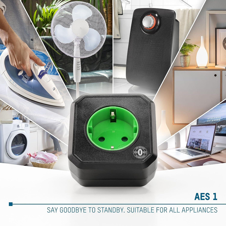 Ansmann AES 1 Zero Enchufe con Temporizador para Ahorro energ/ético